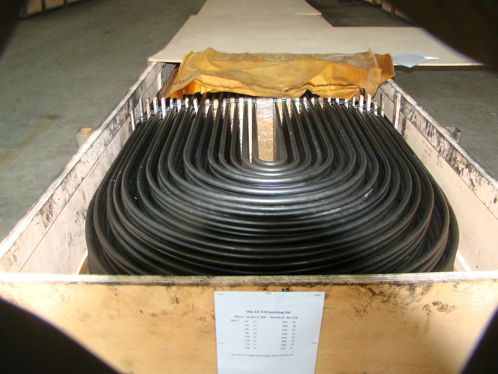 Seamless Steel Tubes SA192 U tubes Heat Exchanger and Shell Tubes factory